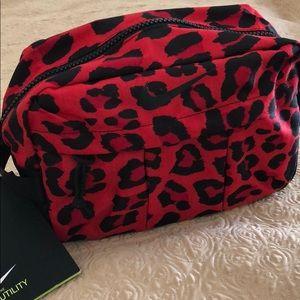 Nike red cheetah utility bag NWT